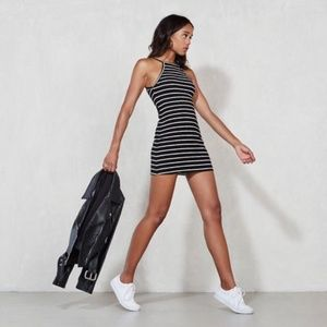 Reformation 'Rhodes' Striped Ribbed Mini Dress